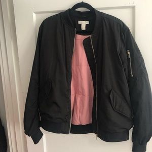 H&M Black bomber jacket